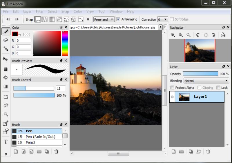 برنامج تعديل وتحرير الصور FireAlpaca 2020